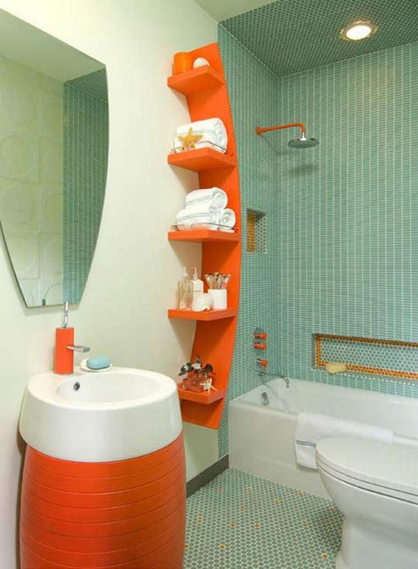 banheiros pequenos cores