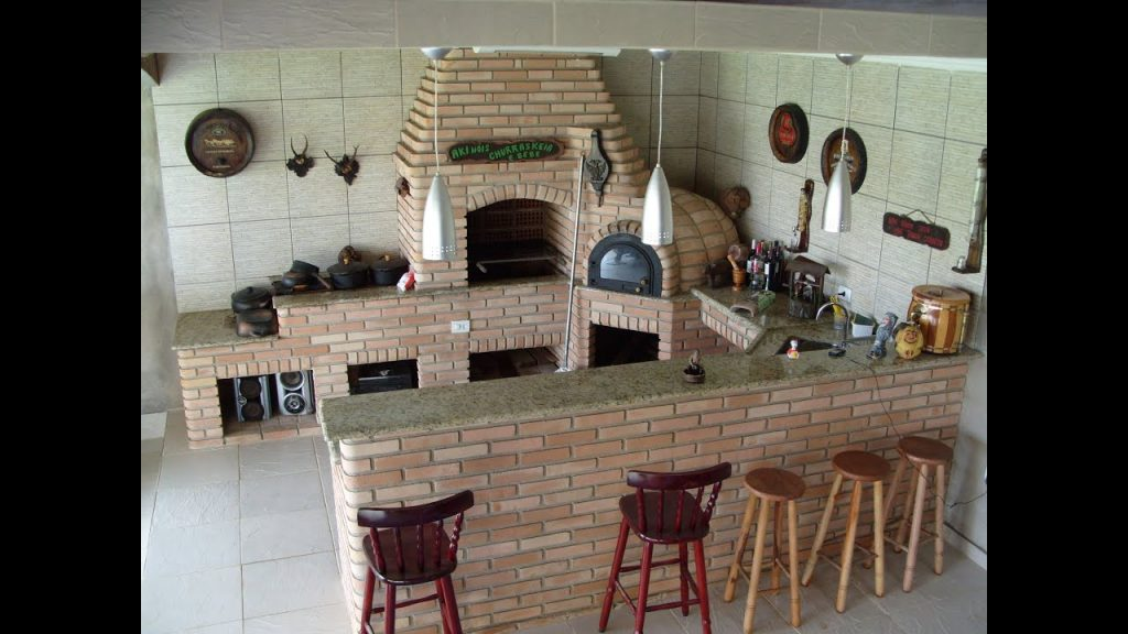 churrasqueira com pia forno