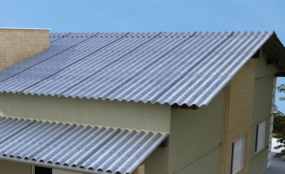 tipos telhas fibrocimento