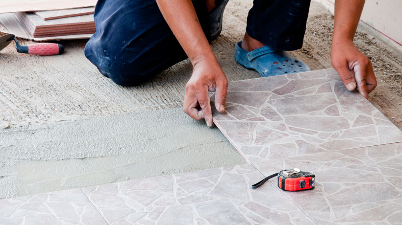 assentar ceramicas piso