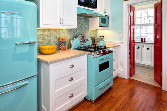cozinha cor retro