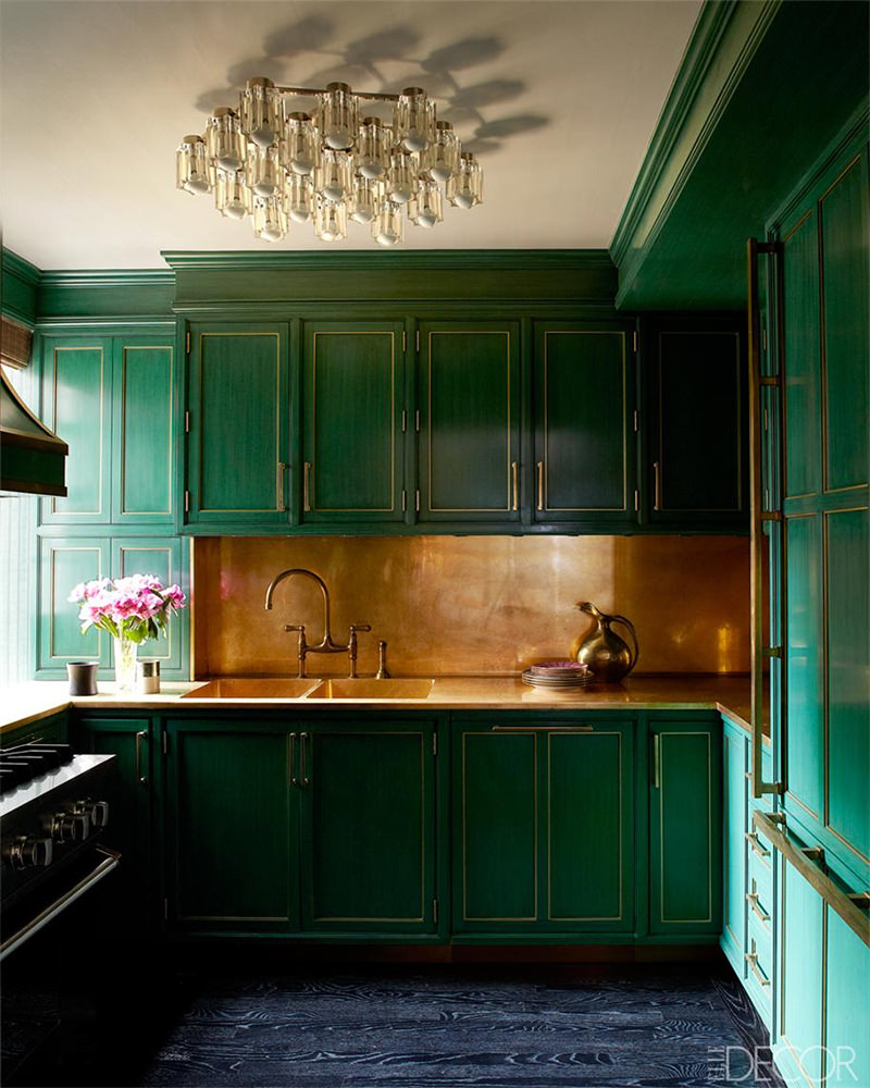 cozinha verde cobre