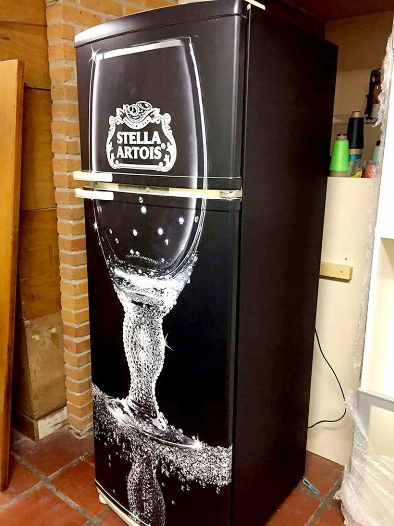 geladeira envolapada